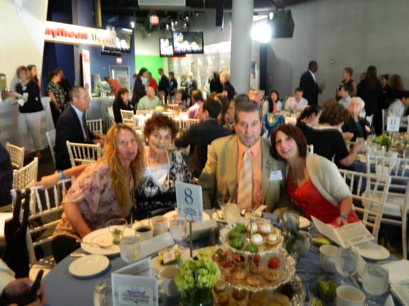 DeQuattro Family at NE Patriot Community Service Awards