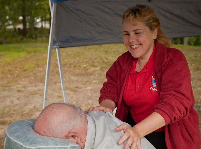 Massage Table at Stand Down Weekend