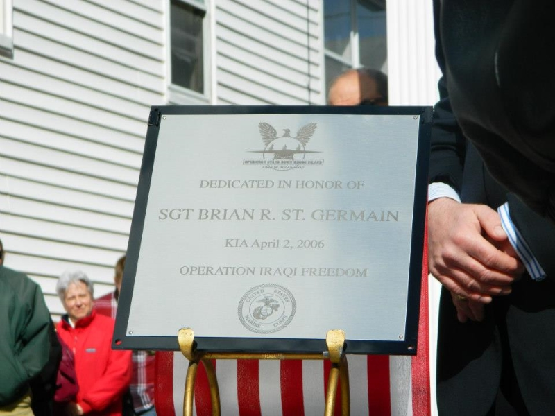 Plaque for St. Germain Home