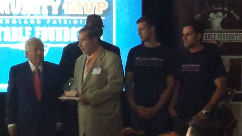 Tony DeQuattro Recieves NE Patriots MVP Award