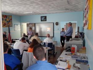 Veteran Training at Employment Center
